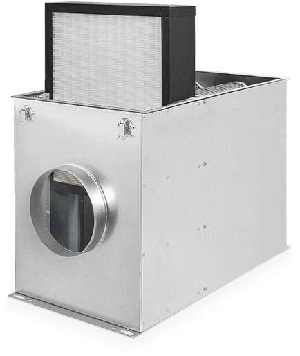 SmogBox - innowacyjny filtr antysmogowy skutecznie filtrujący pyły zawieszone PM1, PM2.5 i PM10, jak również typowe zapachy wchodzące w skład smogu i dymów - Obudowa z wysuniętym filtrem