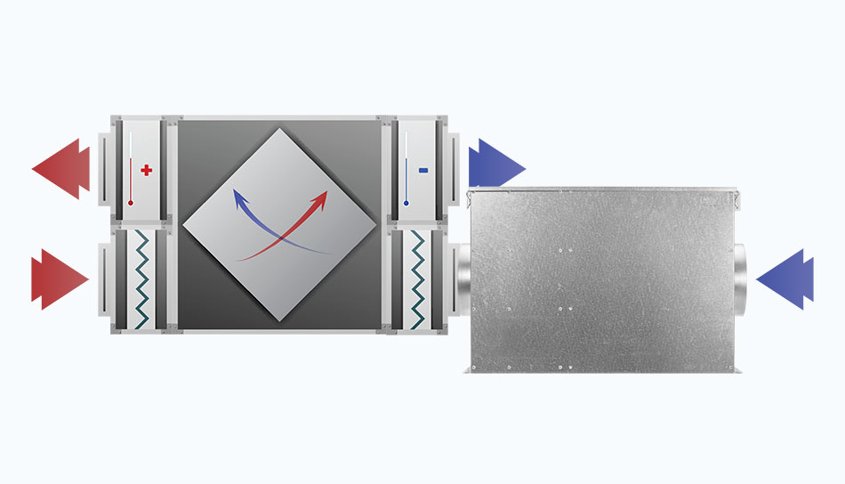 SmogBox - innowacyjny filtr antysmogowy skutecznie filtrujący pyły zawieszone PM1, PM2.5 i PM10, jak również typowe zapachy wchodzące w skład smogu i dymów - Instalacja przed rekuperatorem